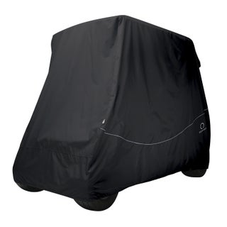 Classic Accessories Fairway Golf Car Quick-Fit Cover, Long Roof, Black (2 options available)