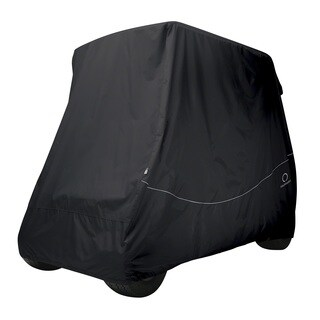 Classic Accessories Fairway Golf Car Quick-Fit Cover, Long Roof, Black