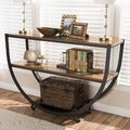 Baxton Studio Blakes Industrial Distressed Wood Console Table