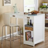 Simple Living Terri Counter Height Desk/Dining Table - White