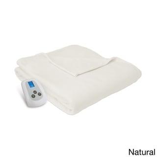 Serta MicroFleece Heated Electric Warming Blanket with Programmable Digital Controller