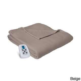 Serta MicroFleece Heated Electric Warming Blanket with Programmable Digital Controller