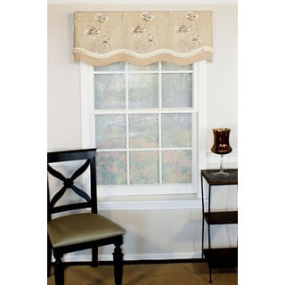 Mystic Flowers Natural Glory Valance