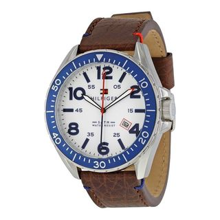 Tommy Hilfiger Men's 1791132 'Casual Sport' Brown Leather Watch