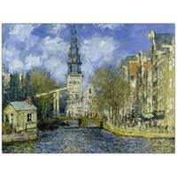 Claude Monet 'The Zuiderkerk at Amsterdam' Canvas Wall Art