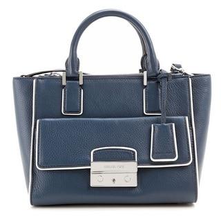 Michael Kors Large Audrey Navy Satchel Handbag