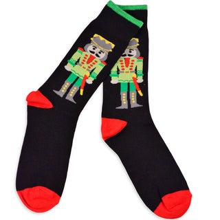 Men's Christmas Holiday Nutcracker Crew Socks