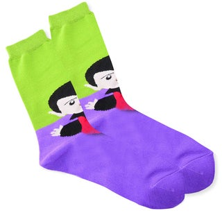 Women's Halloween Vampire Head Crew Sock