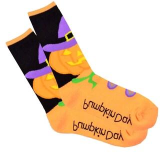 Women's Halloween Crew Knee-High Socks Single Pair
