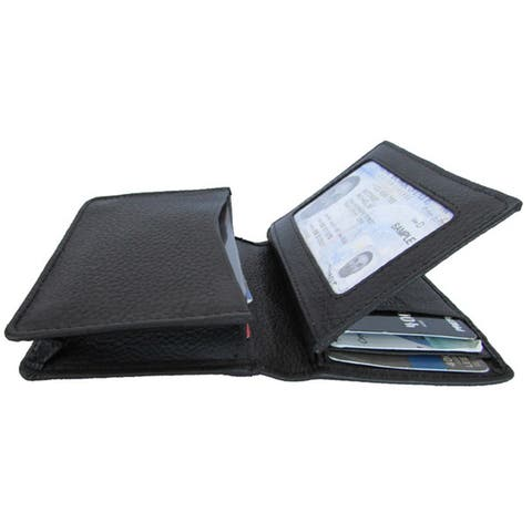 Continental Leather Dual Purpose Front Pocket Wallet with Gusset