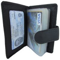 Unisex Continental Leather Bi-fold Cardcase Front Pocket Wallet