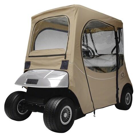 Fairway Fadesafe  E-Z-Go® Golf Car Enclosure, Short Roof, Khaki