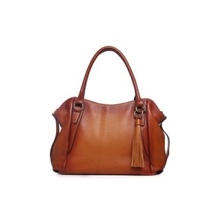 Amedea Leather Tote Handbag