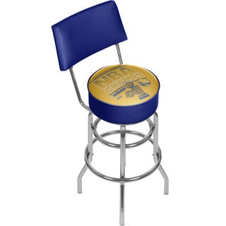 Golden State Warrior Swivel Bar Stool with Back