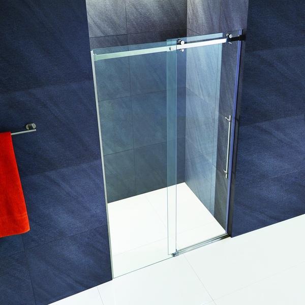 Vigo Luca 60 Inch Frameless Shower Door With Clear Glass And Chrome