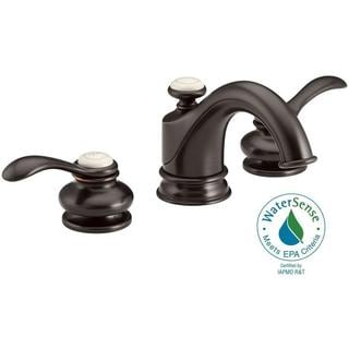 Kohler Fairfax 8 inch Widespread 2-Handle Mid-Arc Bathroom Faucet in Oil-Rubbed Bronze