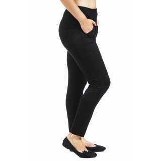 24/7 Comfort Apparel Women's 2-Pocket Straight Leg Pant|https://ak1.ostkcdn.com/images/products/10641397/P17709121.jpg?impolicy=medium