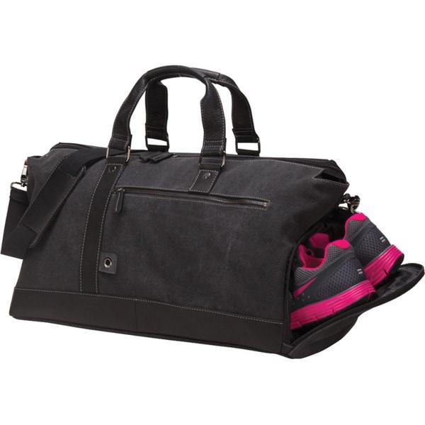 Bellino Canvas Leather Noble Weekend Duffel Bag