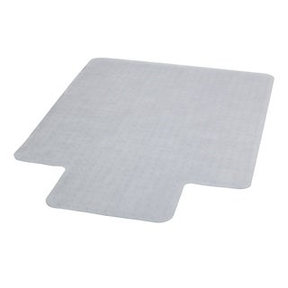 45-inch x 53-inch Carpet Chairmat with Lip (Clear)