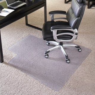 45-inch x 53-inch Big and Tall 400-pound Capacity Carpet Chairmat with Lip