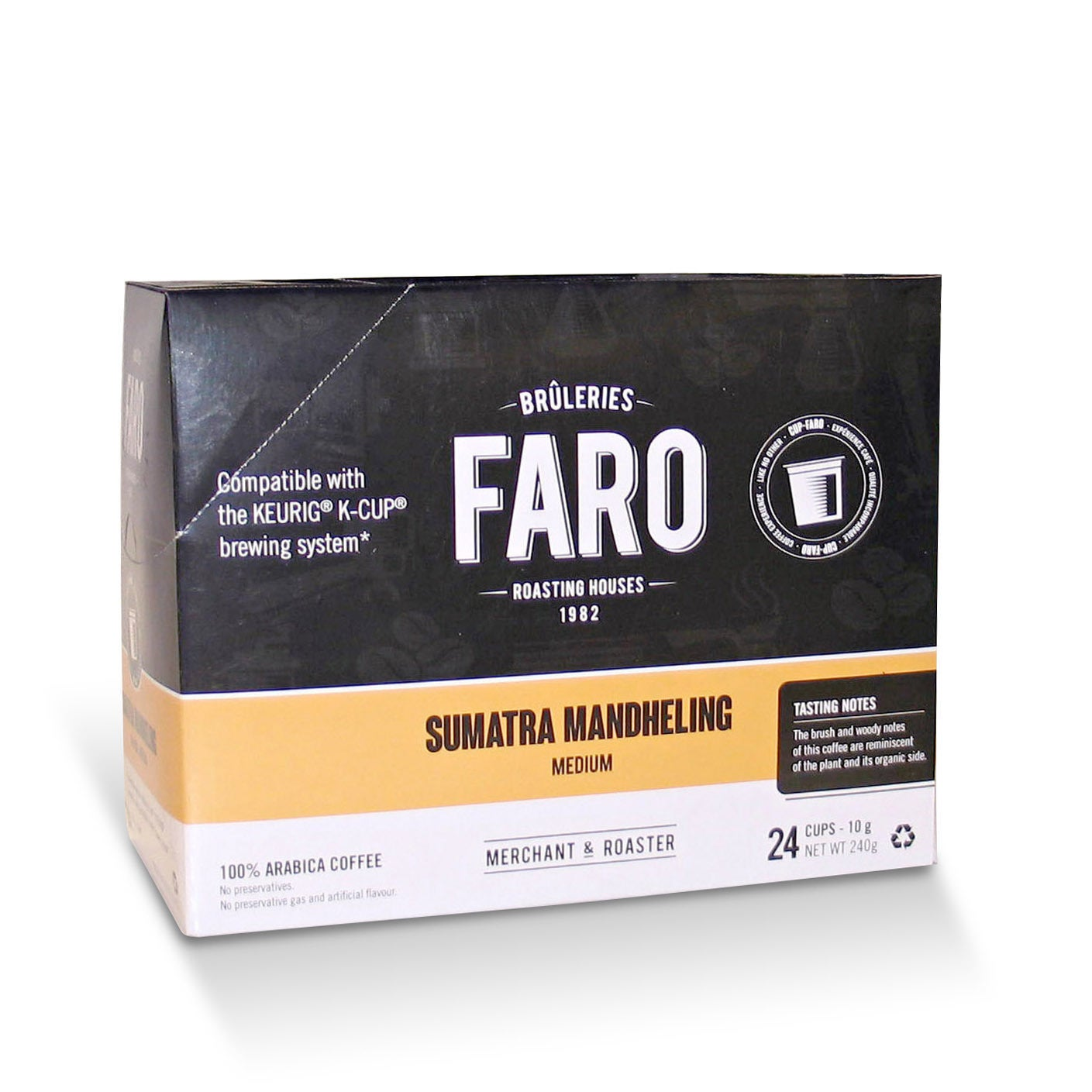 House Faro Cup Sumatra K-Cups (96 Count), Black