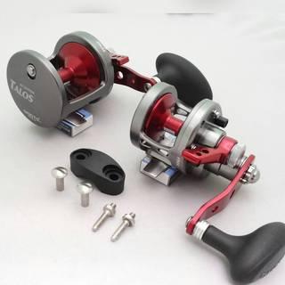 Omoto Talos TS12 Fishing Jigging 25# Drag Wide Reel 1-Speed Ocean/Fresh yellowtail bass tuna (Option: Red)