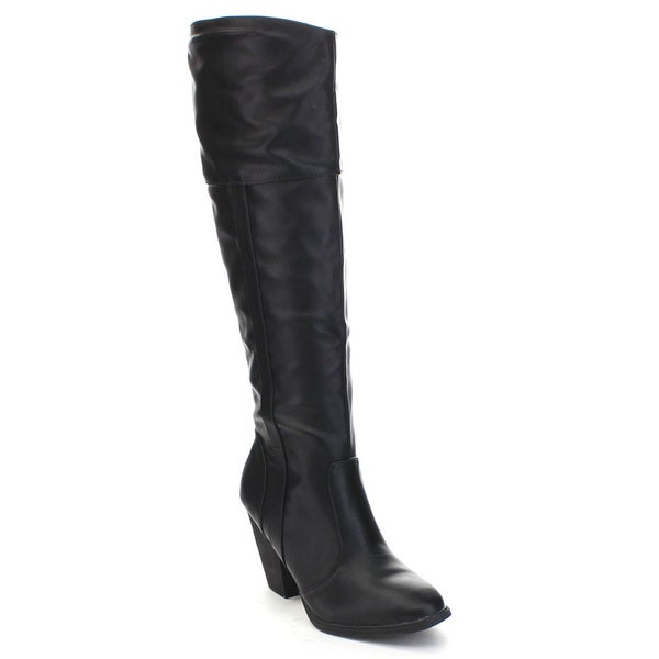 93f7388781d6 Shop Dollhouse Women s  Attention  Chunky Heel Knee-High Riding ...