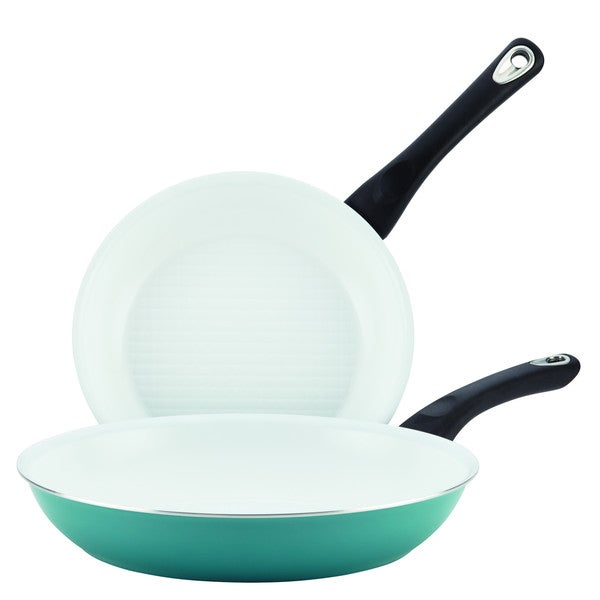 Farberware PURECOOK(tm) Ceramic Nonstick Cookware Twin Pack 9-1/4-Inch and 11-1/2-Inch Skillets