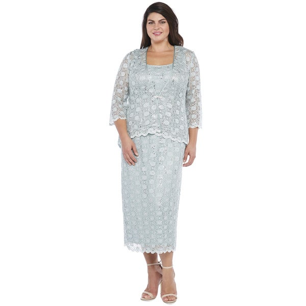 e3957c45c73 Shop R M Richards Plus Size Lace Swing Jacket Dress - Free Shipping ...