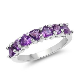 Olivia Leone 1.75 Carat Genuine Amethyst .925 Sterling Silver Ring