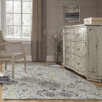 Momeni Newport Blue Hand-Tufted Wool Rug (5' x 8') - 5' x 8'
