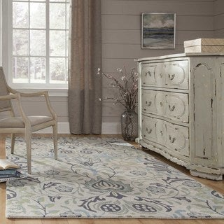 Momeni Newport Blue Hand-Tufted Wool Rug (8' X 10') (2 options available)