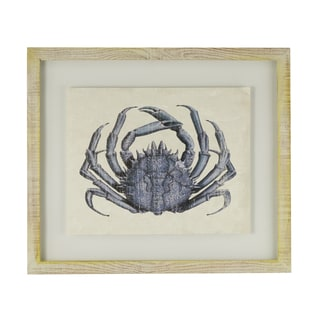 INSPIRE Q Blue Crab Framed Giclee Print Wall Art