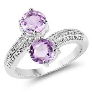Olivia Leone 1.46 Carat Genuine Amethyst .925 Sterling Silver Ring