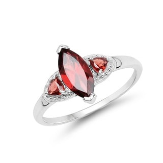 Malaika 1.56 Carat Genuine Garnet .925 Sterling Silver Ring