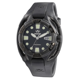 Reactor Heavy Water Black analog watch with date