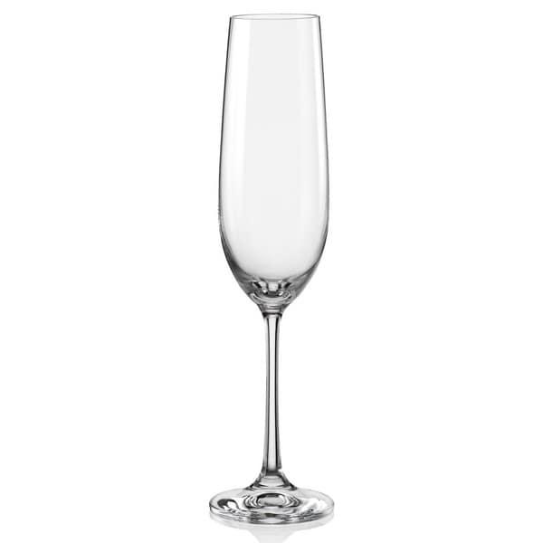 Red Vanilla Viola 6.5 oz. Champagne Flutes (Set of 6)