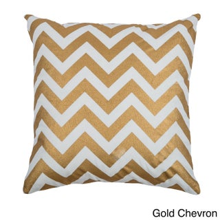 Rizzy Home Holiday Collection 20-inch Throw Pillows (Option: Shimmery Gold Chevron - 18 x 18)