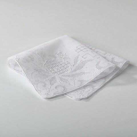 Embroidered Drawnwork Handkerchief