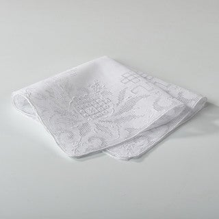 Embroidered Drawnwork Handkerchief