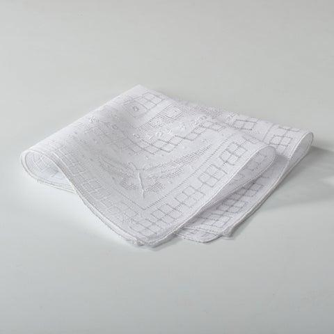 Embroidered and Drawnwork Handkerchief