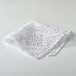 Embroidered and Drawnwork Handkerchief
