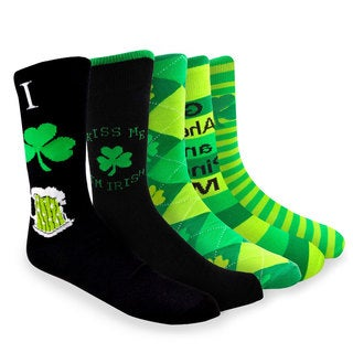 TeeHee Pinch Me St. Patricks Day Cotton Crew 5 pairs Socks