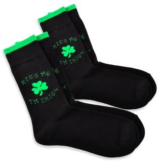 TeeHee Kiss Me St. Patricks Day Cotton Crew Socks (10-13)