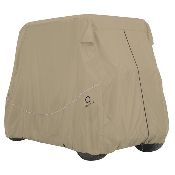 Classic Accessories Fairway Golf Car Quick-Fit Cover Long Roof, Khaki