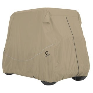 Classic Accessories Fairway Golf Car Quick-Fit Cover Long Roof, Khaki