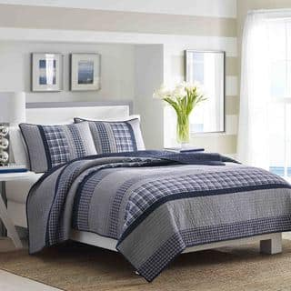Nautica Adleson Pieced Cotton Quilt Collection. Nautica Bedding   Bath For Less   Overstock com