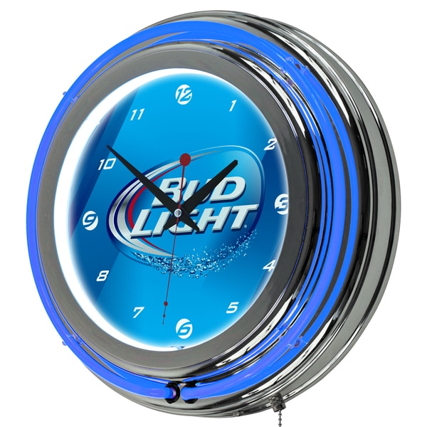 Bud Light 14 Inch Neon Wall Clock 17709542 Overstock