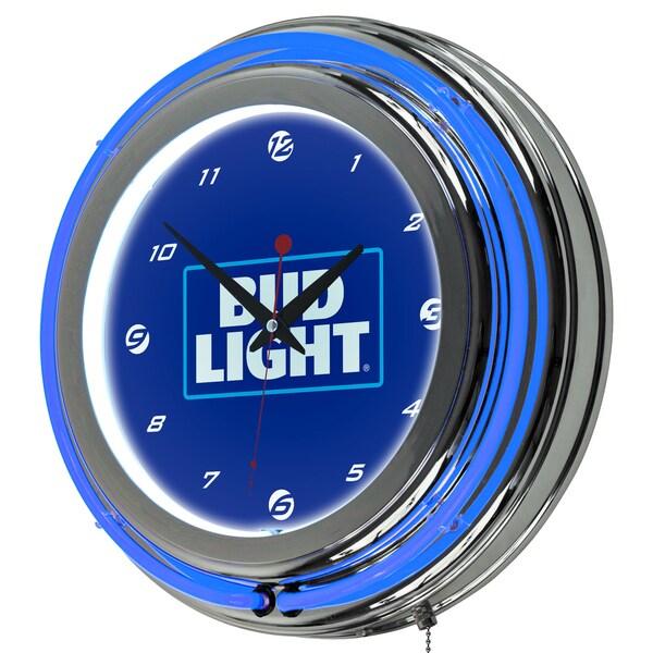 Bud Light 14 Inch Neon Wall Clock