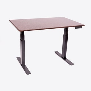 """Luxor STANDE-48-BK/DW Stand Up 48"""" Electric Desk"""